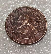 1942-P--CURACAO--1 CENT--BETTER GRADE-U.S. MINTED PHILADELPHIA