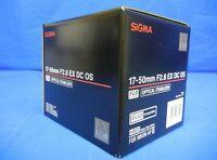 Sigma 17-50mm F2.8 EX DC OS HSM Zoom Lens For Nikon Japan model New