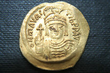 ANCIENT BYZANTINE GOLD SOLIDUS MAURICE TIBERIUS 6th Century AD