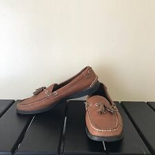 VGC Tommy Bahama Leather Tassel Loafer Boat Size 8 M Men's Shoes Brandy Tan