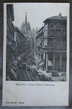 Vintage - MILANO - Corso Vittorio Emanuele - Postally Unused Postcard Italy