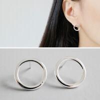 Ohrstecker Kreis echt Sterling Silber 925 Damen Ohrringe geometrisch