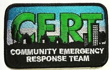 TWO  CERT Patches Community Emergency Response Team C.E.R.T. sew on Patch