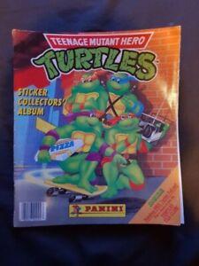 TEENAGE MUTANT HERO TURTLES TMNT Panini Sticker Album 1990