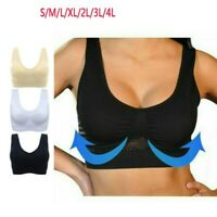 Women's Air Permeable Cooling Wire Free Summer Sport Yoga Wireless Bra Plus Size