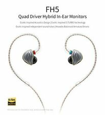 FiiO FH5 Quad Driver Audiophile Grade Hybrid In-Ear Monitors Titanium