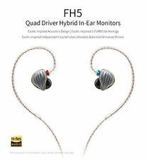 FiiO FH5 Quad Driver Audiophile Grade Hybrid In-Ear Monitors Black
