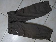 Pantalon coton kaki DDP + Pantalon velour tendre Okaidi 10 ans