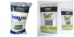Eden Essentials Perlite 10/100 Ltr Clay Pebbles 10/50 L Growing Media Substrate