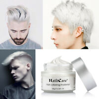 White DIY Hair Color Wax Mud Dye Cream Temporary Modeling Hairstyle Men Women