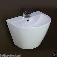 Basin Sink Bathroom Ceramic Wall Hung Mounted Pedestal Bowl White Corner Roma 9