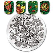 Born Pretty Paisley Design Nail Art Stamping Plates Round Image Templates Design