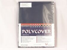 Akiles Polycover Heavy Duty 8.5x11 Binder Covers, Navy Blue texture 50 Sets