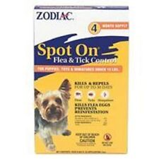 Zodiac Spot On Flea & Tick Control for Puppies & Toy Dogs to 15lb 4 Month Supply