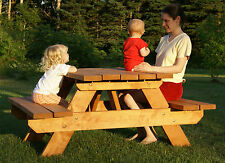 PLANS to build beautiful strong child size picnic table  Patio/garden furniture,