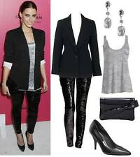 Celeb Style Black  Sequin Leggings Pants Party Evening Trousers Sizes UK 6 -14