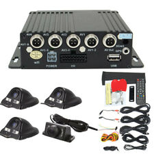 Universal 4CH SUV Car Truck Security Camera DVR Monitoring Video Recorder Remote
