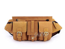 Men's Genuine Leather Waist Bag Chest Pack Messenger Shoulder Bag