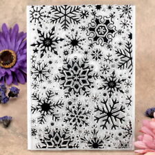Snowflake Background Scrapbook DIY photo cards rubber stamp clear stamp