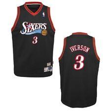 029dfa2ec04 Philadelphia 76ers Allen Iverson Youth Swingman Jersey Black L