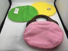 Vintage Bermuda Bag Purse Handbag 3 Interchangeable  Bags Pink Green Yellow