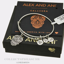 Authentic Alex and Ani Calavera Rafaelian Silver Charm Bangle