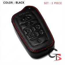 Key Remote Cover Leather Thread Black For Toyota Velfire Alphard 2013 2018