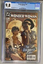 """WONDER WOMAN #190 CGC 9.8 """"HAIRCUT COVER"""" BY ADAM HUGHES AWESOME COVER HTF"""