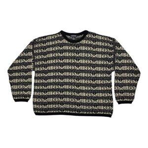 Vintage 90s Jantzen Mens Multicolor Geometric Crewneck Pullover Sweater Size XL