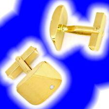 Manschettenknöpfe aus Gelbgold mit Diamant