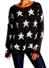 NWT NEW $190 WILDFOX COUTURE BLACK & WHITE SEEING STARS LENNON SWEATER FITS M-L
