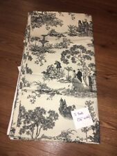 5 Yds Upholstery Fabric - French Countryside Black Cream Toile Horse Carriage