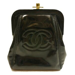 Authentic CHANEL Pouch turn lock Nylon #8030