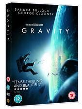 GRAVITY SANDRA BULLOCK GEORGE CLOONEY WARNER UK 2014 DVD & UV DIGITAL COPY NEW