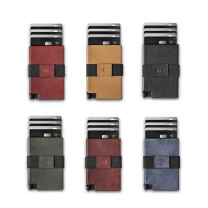 EKSTER Senate Leather Cardholder Wallet RFID Blocking No Skimming Brown Black