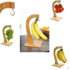 Árbol de uvas de Madera Haya Banana Gancho Colgador Soporte Soporte de madera Havea Cocina de fruta