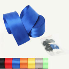 360cm Blue Sport Car Safety Belt Kit Front 3 Point Retractable Vehicle Seat Belt