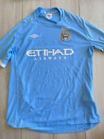 Vintage Umbro Manchester City Home Football Shirt FA Cup Final 2011 Size XL - 48
