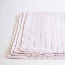 24 100% cotton towels red stripes dish glass towels lint free flour sack towel