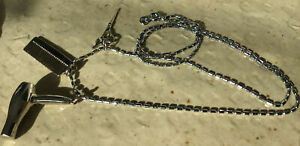 """18k gp necklace 23"""" with 3 Hair Stylist charms, Michael Anthony Jewelry Free S&H"""
