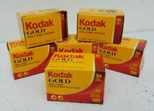Lot of 6 Kodak Gold 100 Color Print Film 34 Exposures ISO 100 Sealed expired