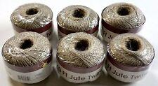 Natural Jute Twine Twist String 2 Ply 3000 feet (6 Rolls x 500 ft) Crafts Burlap