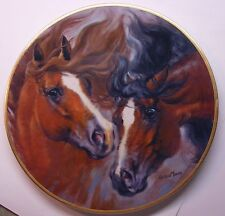 THE HORSES OF HARLAN YOUNG 'QUARTERHORSES' KERN COLLECTIBLES # 1249 PLATE