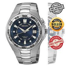 Seiko SKA223 SKA223P1 Mens Kinetic Military Blue Dial 100m Steel Watch