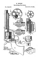 1875 - Revolving Fire-Arms - W. Mason - Colt Peacemaker - Patent Art Poster