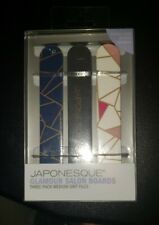 JAPONESQUE Glamour Salon Boards, Emery Boards, Set of 3
