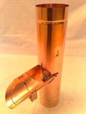 Kupfer-Regenrohrklappe mit Edelstahlsieb 80 mm