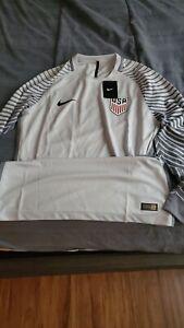 USA Nike Soccer Jersey white/grey USMNT size L