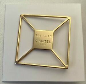 CHANEL PIN BROOCH BADGE GABRIELLE GOLD NEW VIP GIFT