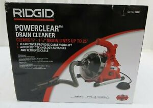 "RIDGID PowerClear Drain Cleaning Machine Clears 3/4"" to 1-1/2"" Lines Up to 25'"